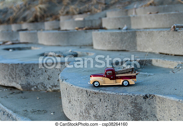 Beach Wood Truck - csp38264160