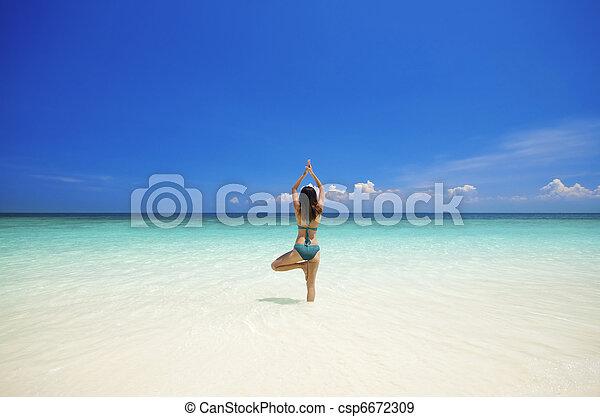 Beach Yoga - csp6672309