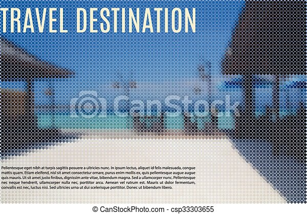 beachfront, fond, restaurant - csp33303655