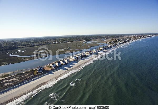 Beachfront homes. - csp1603500