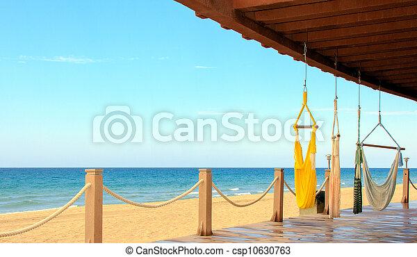 beachfront, tranqüilidade, mexico., relaxation., lugar, mar, cortez, vista - csp10630763