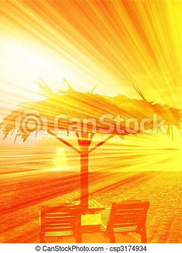 Beachside seat - csp3174934