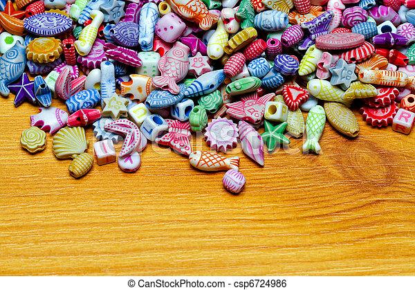 Beads at wood - csp6724986