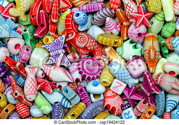 Beads colorful - csp19424122