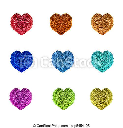 Beads Hearts - csp5454125
