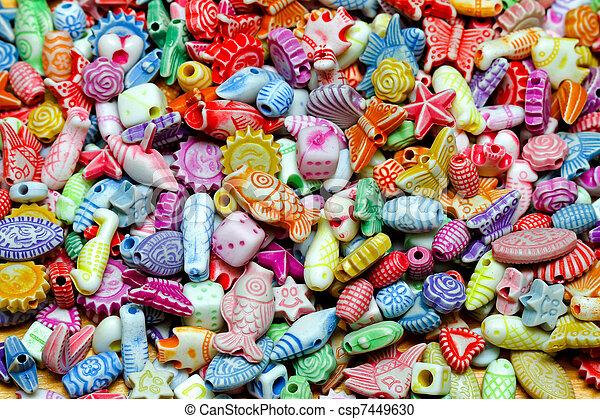 Beads texture - csp7449630
