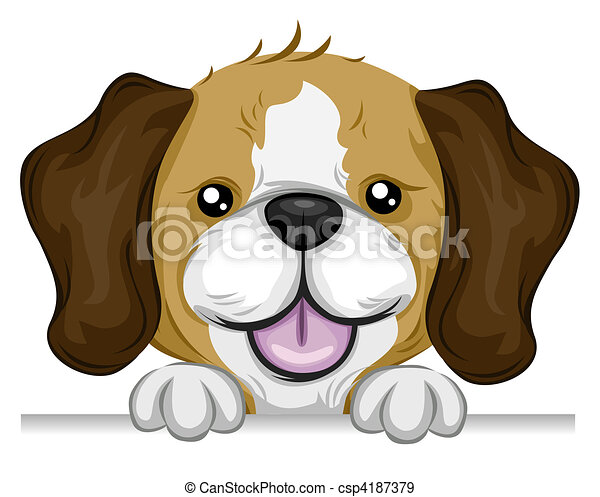 beagle holding edge of a board rh canstockphoto com bagel clip art free beagle clip art black and white
