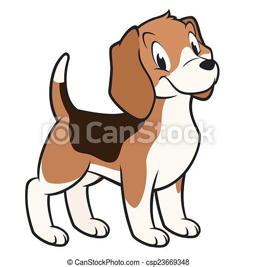 beagle, karikatur - csp23669348