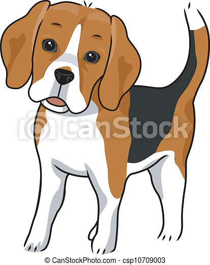 illustration featuring a cute and curious beagle rh canstockphoto com easter beagle clipart beagle clipart free