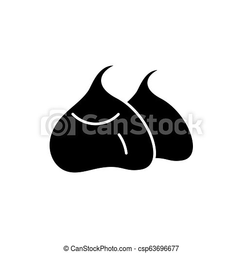 Bean bags black icon, vector sign on isolated background. Bean bags concept symbol, illustration - csp63696677