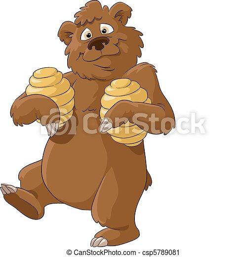 Bear and honey - csp5789081