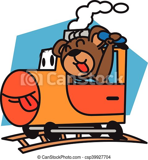 bear and train vector art illustration vector clipart search rh canstockphoto com train vector graphic train vector classifier otb