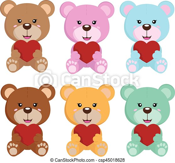 bear background with love and white background