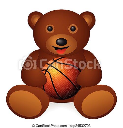 bear basketball ball - csp24532703