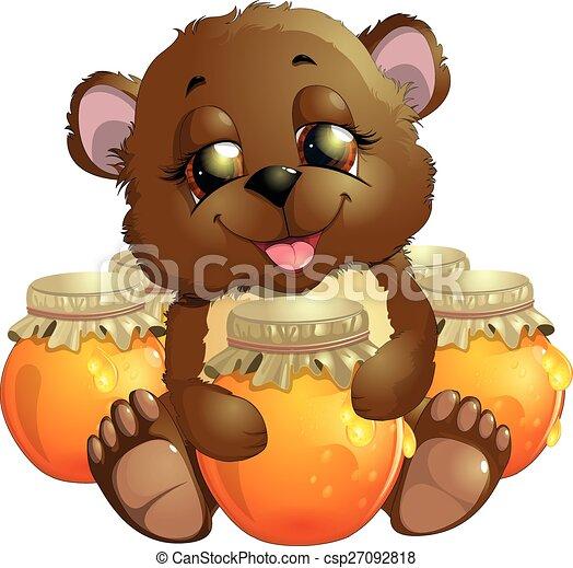 bear eats honey - csp27092818
