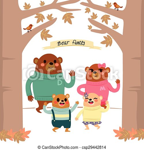 Bear Family Forest - csp29442814