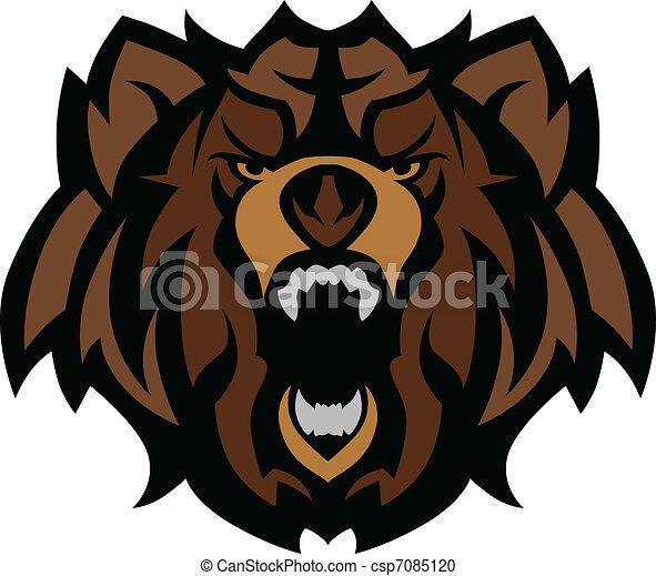 Bear Grizzly Mascot Head Graphic - csp7085120