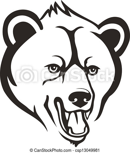 Bear head - csp13049981
