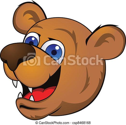 Bear head - csp8468168
