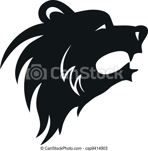 Bear head - csp9414903