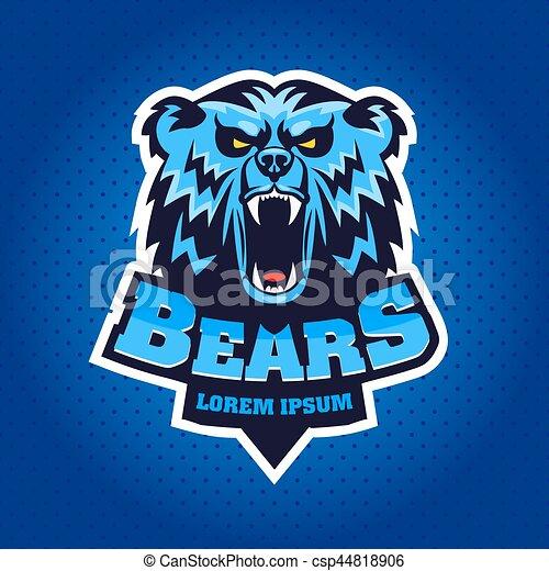 Bear Head Logo Mascot Emblem - csp44818906