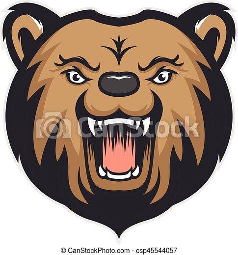 Bear head mascot - csp45544057