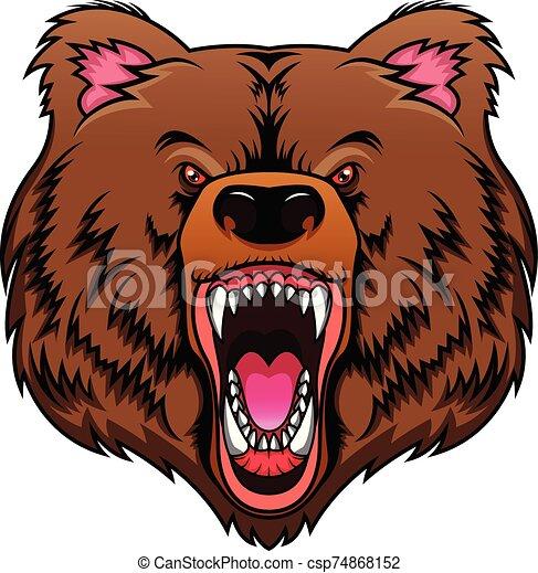 bear head mascot - csp74868152