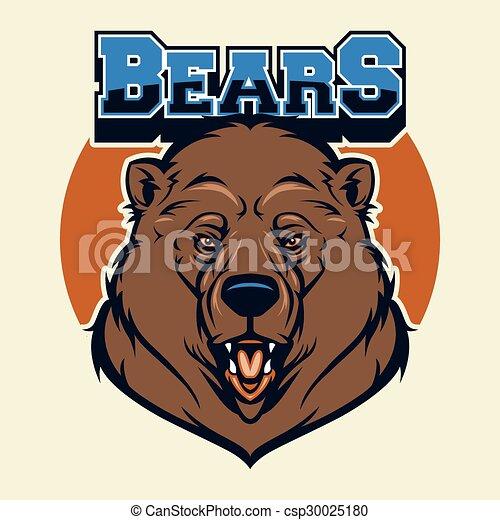 Bear Head Mascot - csp30025180