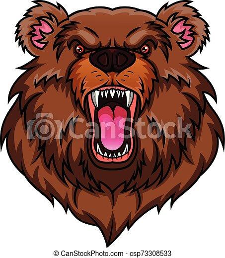 bear head mascot - csp73308533