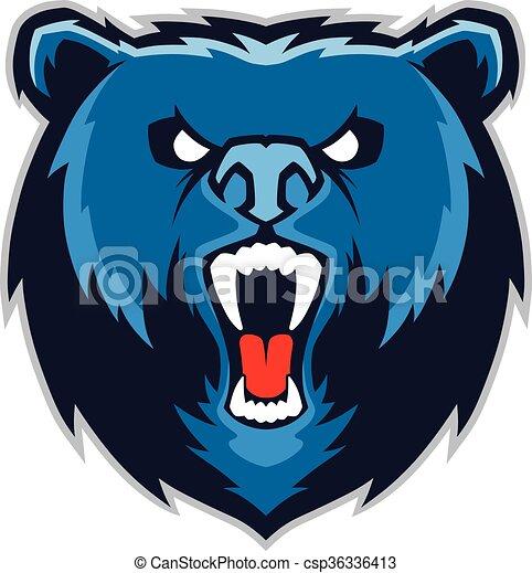 Bear head mascot - csp36336413