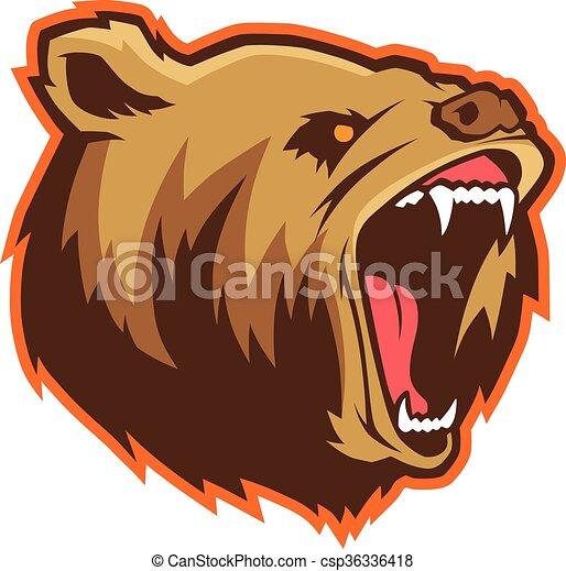 Bear head mascot - csp36336418