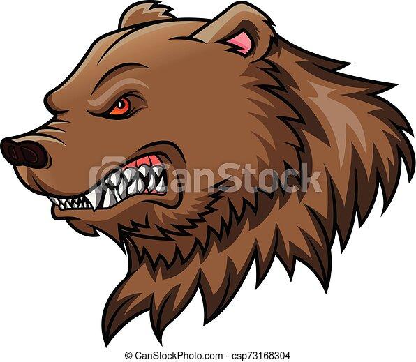 bear head mascot - csp73168304