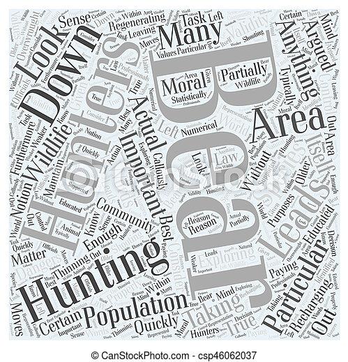 bear hunting dlvy nicheblowercom Word Cloud Concept - csp46062037