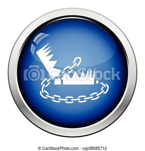 Bear hunting trap  icon - csp38585712