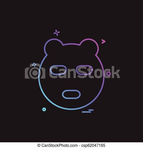 Bear icon design vector - csp62047165