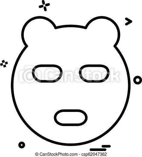 Bear icon design vector - csp62047362