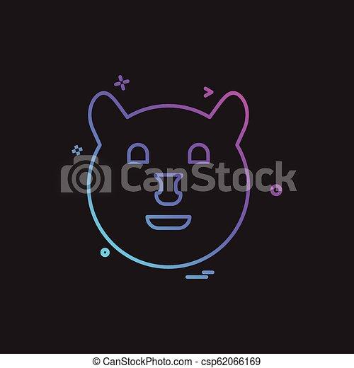 Bear icon design vector - csp62066169