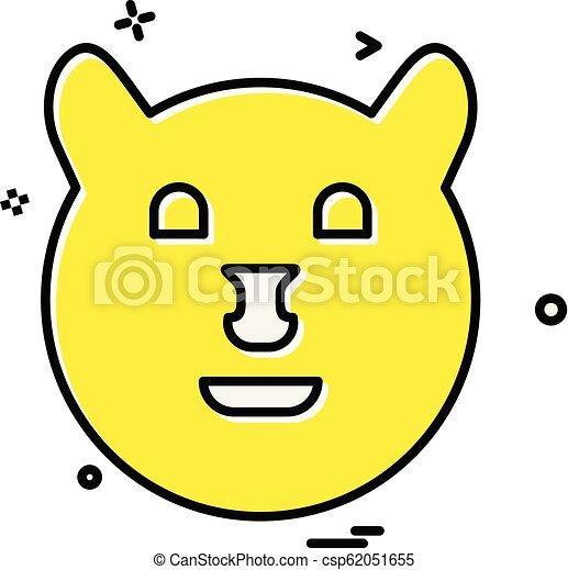 Bear icon design vector - csp62051655