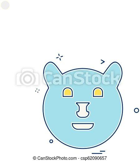 Bear icon design vector - csp62090657