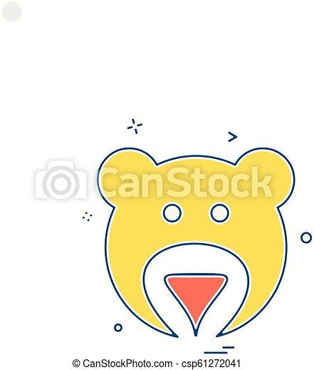 Bear icon design vector - csp61272041
