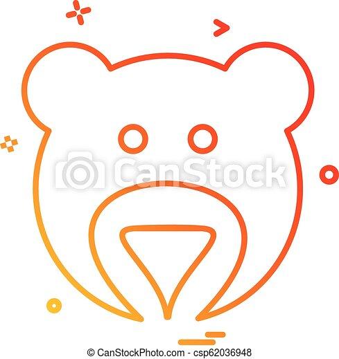 Bear icon design vector - csp62036948