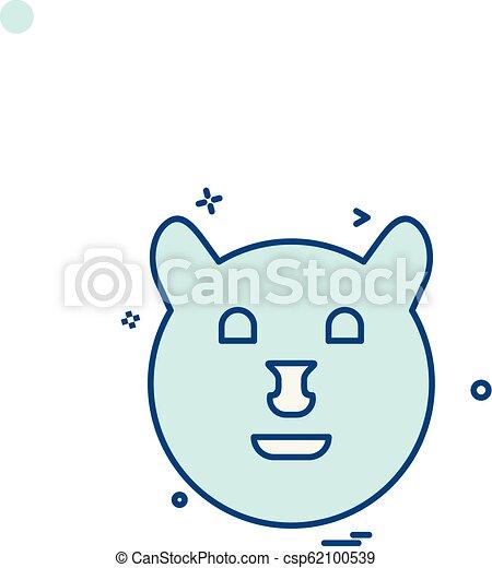Bear icon design vector - csp62100539