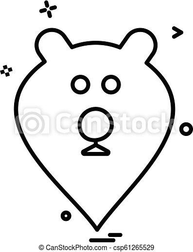Bear icon design vector - csp61265529