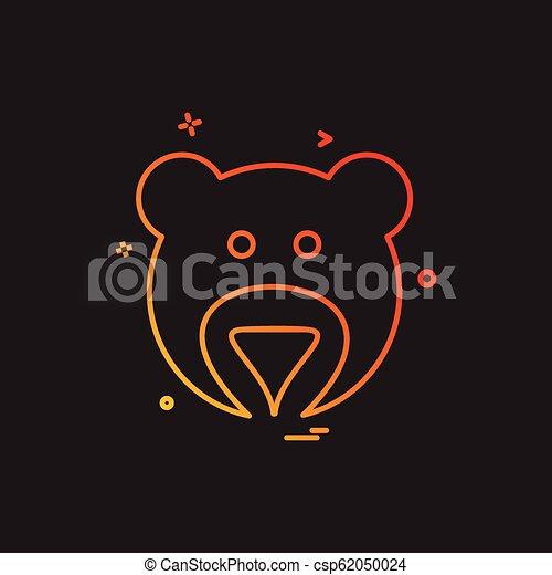 Bear icon design vector - csp62050024