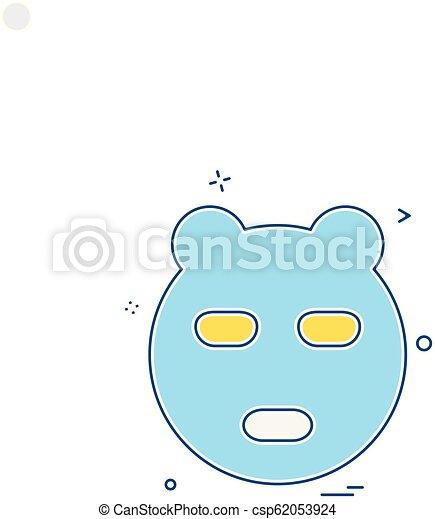 Bear icon design vector - csp62053924