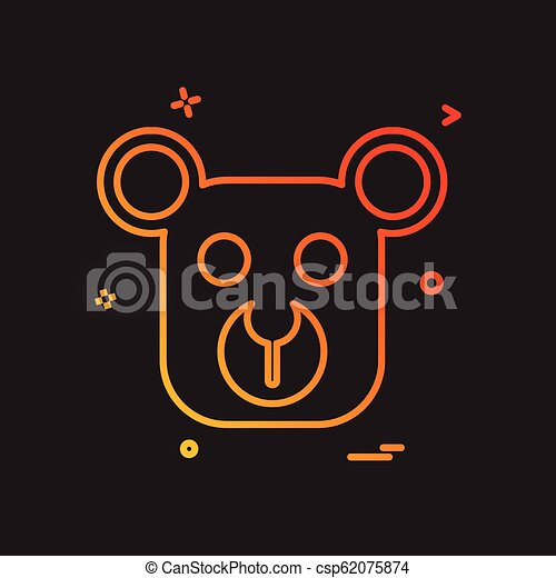 Bear icon design vector - csp62075874