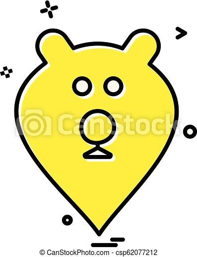 Bear icon design vector - csp62077212