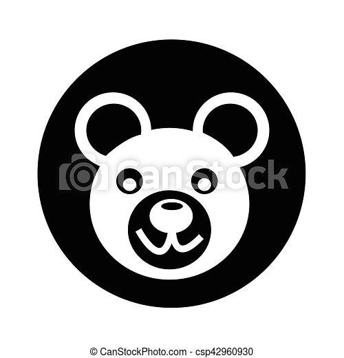 Bear Icon illustration design - csp42960930