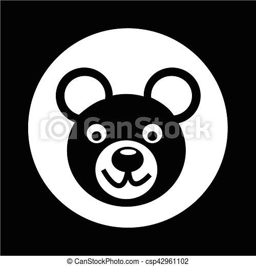 Bear Icon illustration design - csp42961102