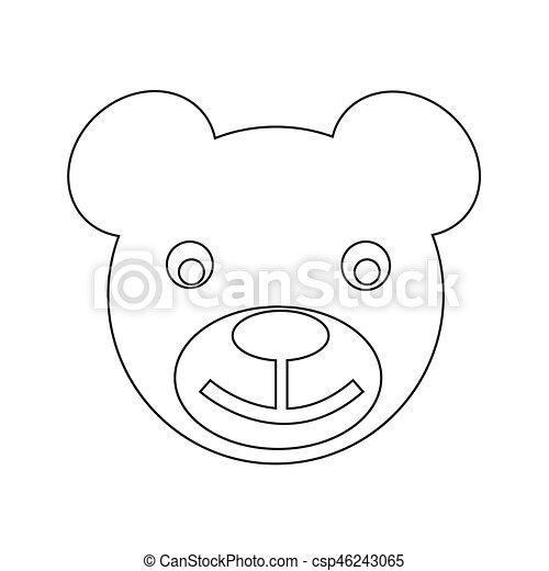 bear icon Vector Illustration - csp46243065
